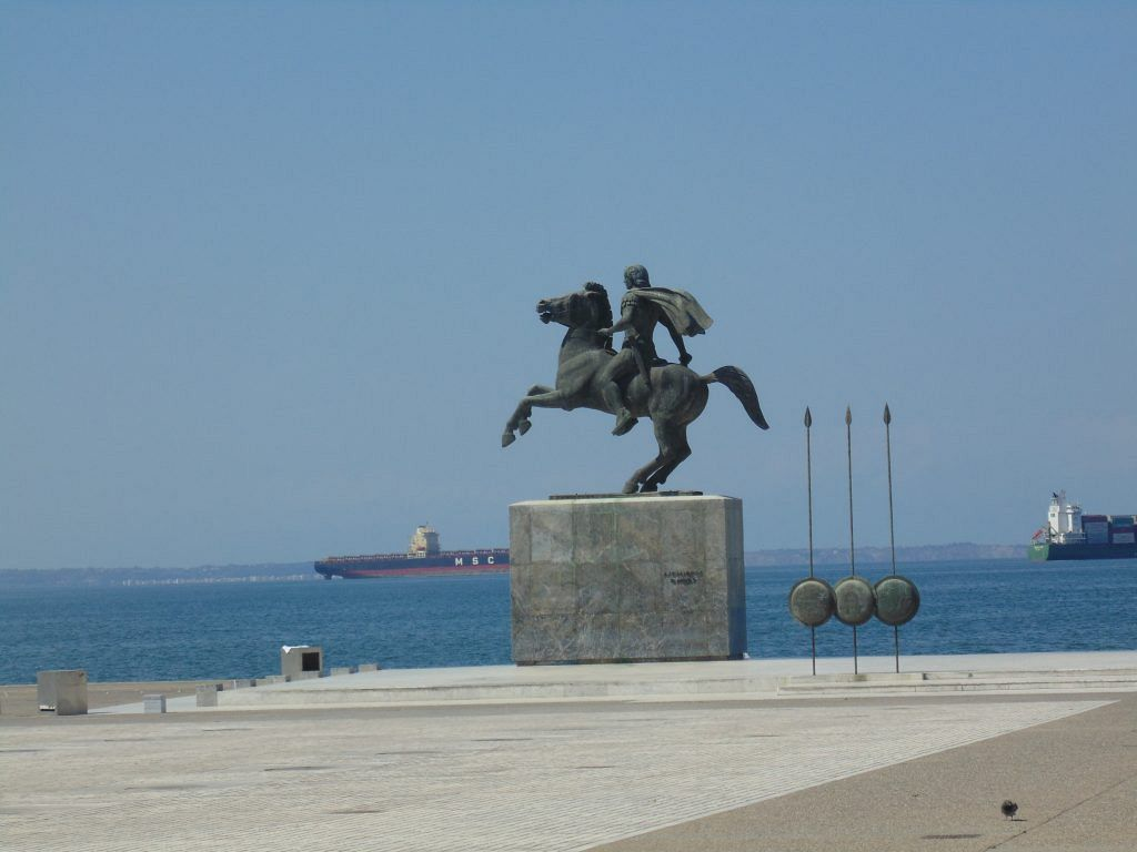 Salonic - Statuia Alexandru cel Mare
