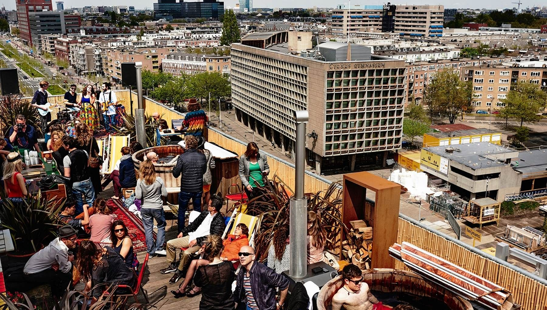 Canvas terasa in Amsterdam