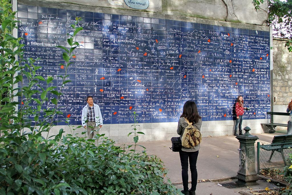 Zidul iubirii din Paris, Montmartre.